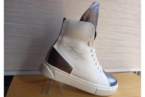 Eclipse Art ботиночки зимние кожаные белые
