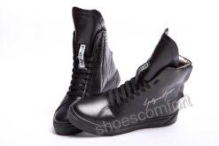 Eclipse Art ботиночки зимние кожаные черные