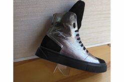 Eclipse Art ботиночки зимние кожаные цвет никель
