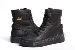 Puma кожаные черные